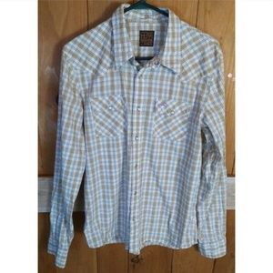 Mens Hollister Western Pearl Snap shirt sz Large